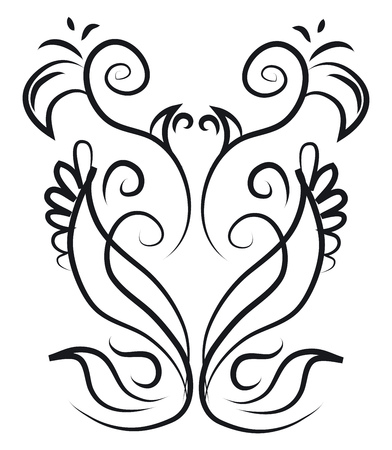 A pattern styled to look ornamented vector color drawing or illustration Illusztráció