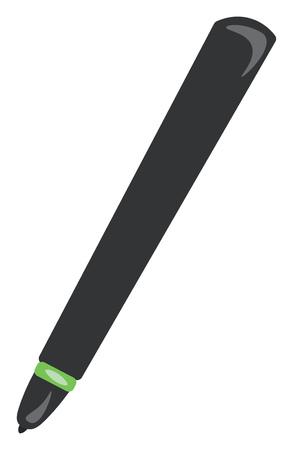 A dark grey colored pen