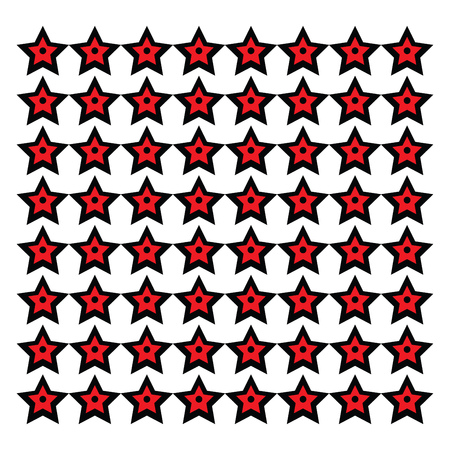 Stars arranged in a sequential manner vector color drawing or illustration Foto de archivo - 120927303