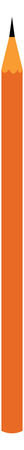 An orange pencil with a sharp writing point vector color drawing or illustration