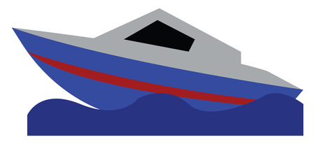 A beautiful modern yacht vector or color illustration Illustration