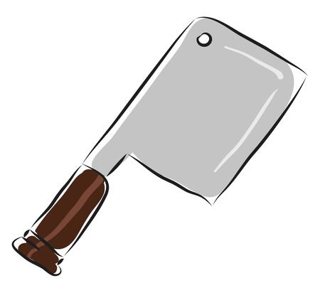 Meat chopperillustration vector on white background Ilustração