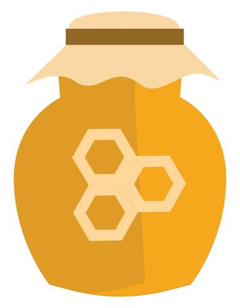 Honey in a jar illustration vector on white background