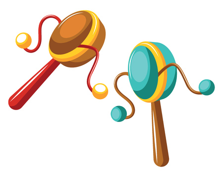 Drums for celebrations vector on white background