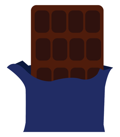 Chocolate bar with wrapper vector or color illustration Banque d'images - 123408727