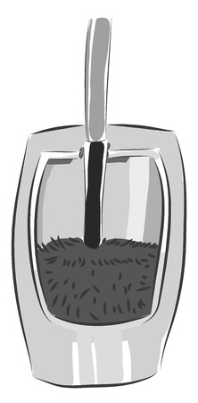 Vector illustration of a grey toilet brush white background