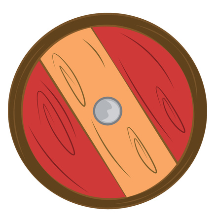 Shield for protection or safeguarding vector or color illustration