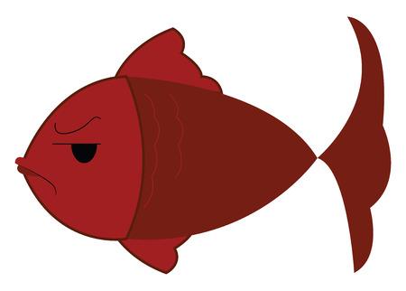 Red fish floating under water vector or color illustration Banque d'images - 123410542