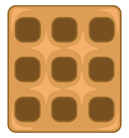 A square waffle vector or color illustration Illustration