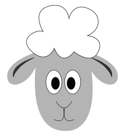 Little lambillustration vector on white background