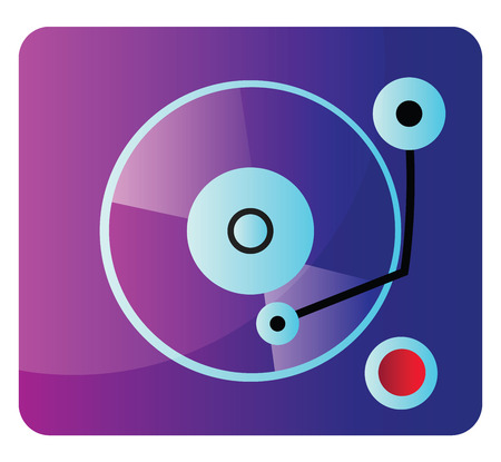 Purple and blue music mixete vector illustration on a white background