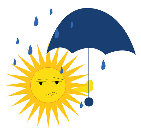 A rainy day vector or color illustration