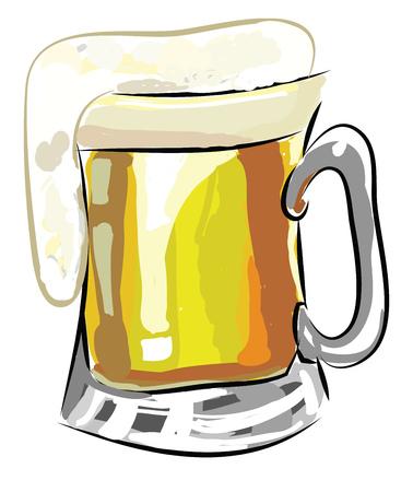 A beer mug vector or color illustration