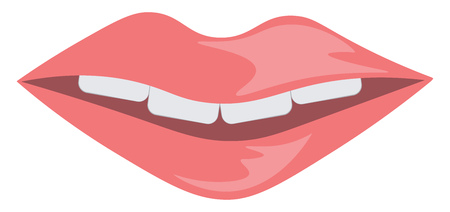 Smiling lips vector or color illustration 写真素材 - 121019987
