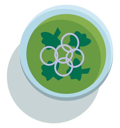 A bowl of broccoli soup vector or color illustration Standard-Bild - 123410736