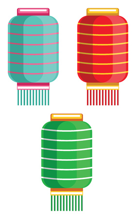 Lanterns for Chinese New Year decoration vector illustration