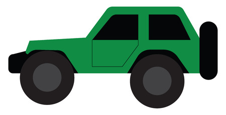 A green high-performance car vector or color illustration