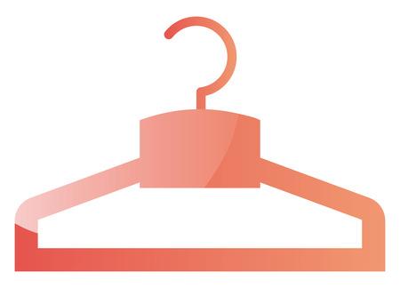 Light pink hanger for clothes vector illustration on a white background Stok Fotoğraf - 123410770