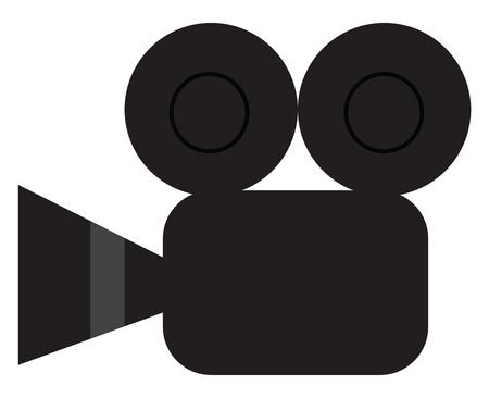 Vintage video camera vector or color illustration Standard-Bild - 121159477