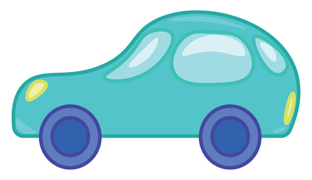 A toy motor car vector or color illustration