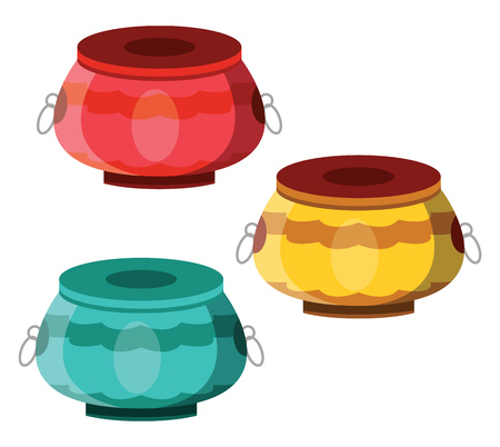 Percussions for Chinese New Year celebration illustration vector on white background  イラスト・ベクター素材