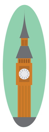 Big Ben of London vector or color illustration Ilustrace