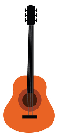 Musical instrument of bass guitar vector or color illustration