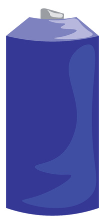 A blue spray paint can vector or color illustration