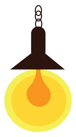 A hanging light shed vector or color illustration Stock Illustratie