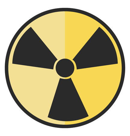 A hazards radiation warning sign vector or color illustration  イラスト・ベクター素材
