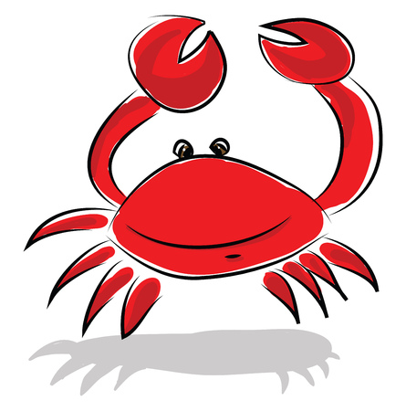 A fresh water crayfish vector or color illustration Illustration