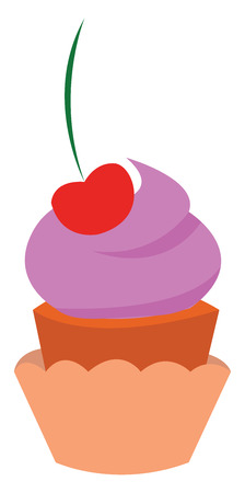 A delicious cupcake vector or color illustration