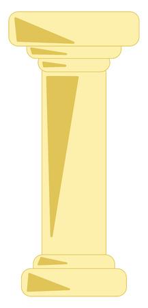 A long structural element vector or color illustration