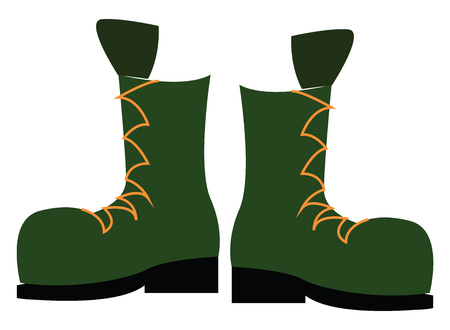 A soldier's boot vector or color illustration