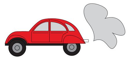 Simple vector illustration of a red car on white background Illustration