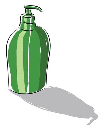 A hand soap dispenser vector or color illustration Vectores