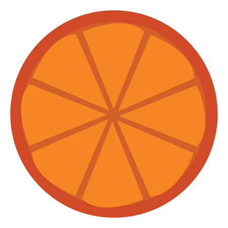 Orange fruit ready to serve vector or color illustration Çizim