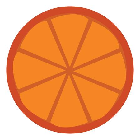 Orange fruit ready to serve vector or color illustration Illustration