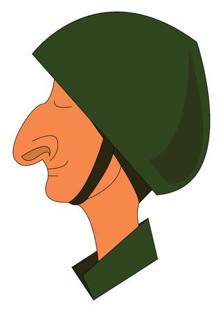 A happy soldier vector or color illustration