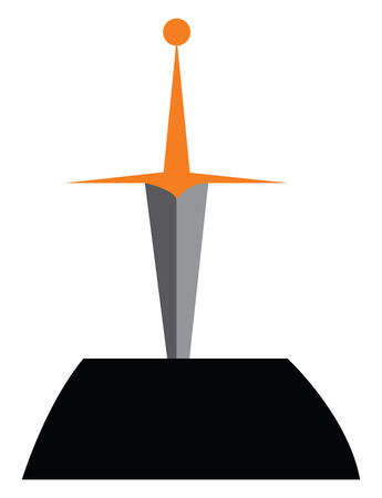 A sword in the stone vector or color illustration