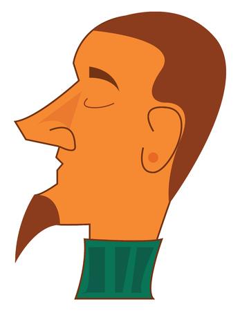 Man with stylish beard vector or color illustration Ilustracja