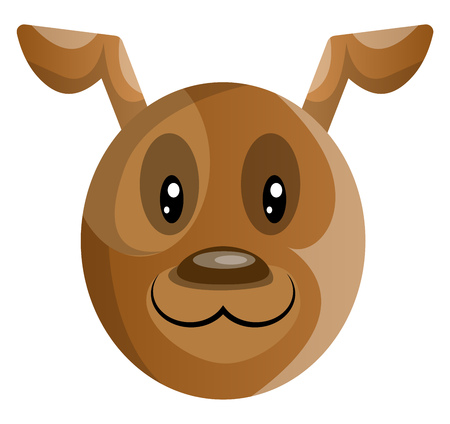 Brown cartoon dog vector illustartion on white background Banque d'images - 121232574