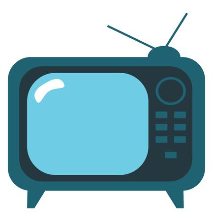 Old fashioned box television set vector or color illustration 向量圖像