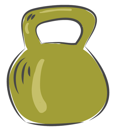 Dumbbell for exercise workout equipment illustration basic RGB vector on white background Banco de Imagens - 123411578