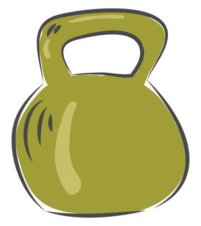 Dumbbell for exercise workout equipment illustration basic RGB vector on white background Illustration
