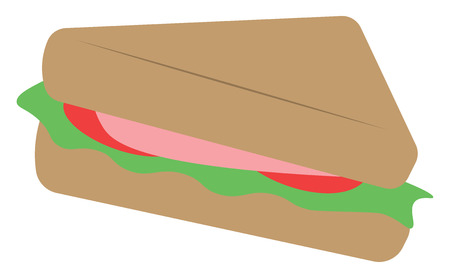 A hearty sandwich vector or color illustration