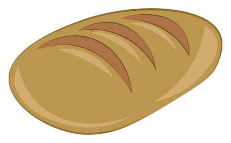 A loaf of fresh bread vector or color illustration Ilustração