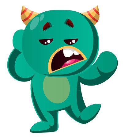 Green monster is not interested vector illustration