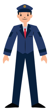 Pilot character vector illustration on a white background