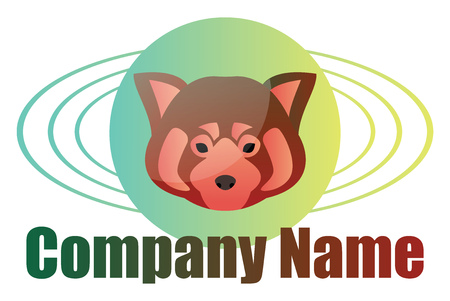 Red panda minimalistic vector logo design on a whitge background Stock Illustratie